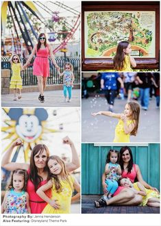 Family Picture Ideas: Colorfully Chic at Disneyland