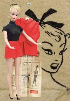 Bild Lilli, (predecessor of the Barbie doll), 29 cm, original hairstyle, original hairband, original clothes, with Bild newspaper.
