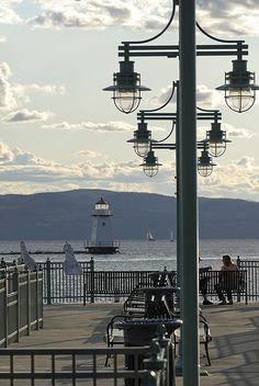Waterfront in Burlington, Vermont. One of www.champlainapartments.com favorite places to sit and relax!