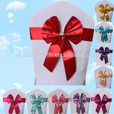 PVC butterfly chair bow tie elastic sash wedding chair tie backs