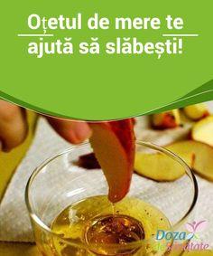 #Oțetul de mere te ajută să #slăbești! Pe lângă faptul că ajută la eliminarea #toxinelor, oțetul de mere este un diuretic natural, ce contribuie la eliminarea lichidului acumulat în exces în organism. În plus, acest oțet stimulează metabolismul și promovează arderea #grăsimilor. Health Diet, Health Fitness, Good To Know, Cucumber, Remedies, Healthy Recipes, Vegetables, Food, Brown Hair