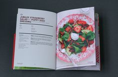 Driscoll Jubilee Strawberries Recipe Book on Editorial Design Served