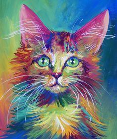 Colorful Cat 4 by San-T.deviantart.com on @deviantART