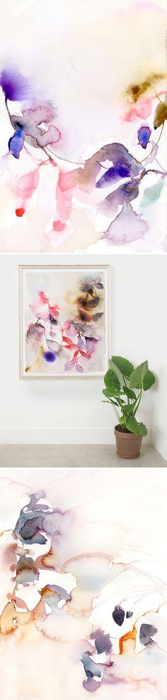 Abstract art, watercolor by Marta Spendowska : verymarta.com