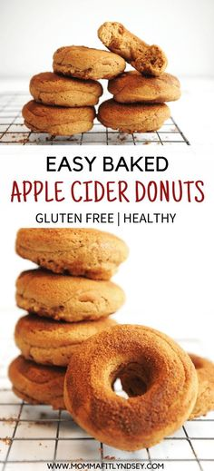 Nutritious Snack Tips For Equally Young Ones And Adults Best Baked Apple Cider Donuts For A Quick Breakfast Idea For Cozy Fall Mornings Easy To Make For Homemade Donuts. Can Be Made Vegan And In The Air Fryer Healthy Donuts, Healthy Dessert Recipes, Delicious Recipes, Healthy Snacks, Donut Recipes, Apple Recipes, Fall Recipes, Cobbler, Mousse