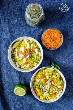 recipe-khatta-meetha-indori-poha|mygingergarlickitchen.com/ @anupama_dreams