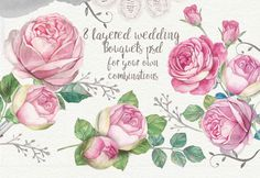 Roses watercolor psd by Mikibith on