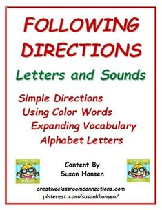 This great Following Directions unit gives beginners practice matching words and pictures, while following directions with color words. It provides learning activities for kinders or a quick review for first graders. There are 21 consonant worksheets, and 5 vowel worksheets.