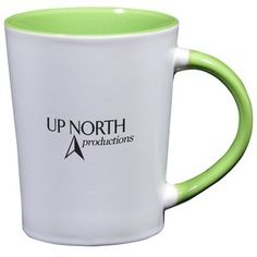 Promotional ceramic mugs are business on the outside, and a party inside!