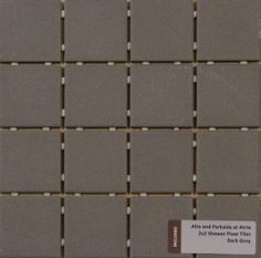 Included Shower Floor Tile - 2X2 Dark Grey