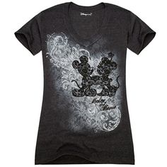 V-Neck Mickey and Minnie Mouse Tee - DISNEY STORE