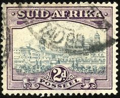 Union of South Africa 1941 Scott 54b 2d dull violet & gray