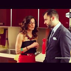 Sofi Gerokosta wearing Klaidra *japanese* velvet necklace at #timanamoutilenegianni, Amt1 Tv