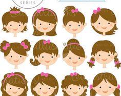 Dark Girl Faces  Create A Character Series  Cute Digital