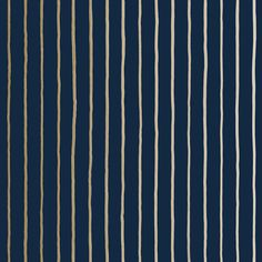 College Stripe Wallpaper in Navy & Gold | Cole & Son Marquee Wallpaper Collection | Contemporary Designer Wallpaper at F&P Interiors