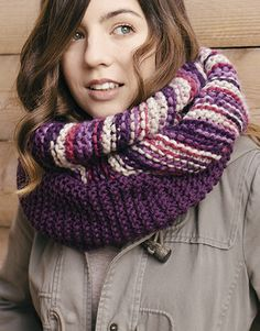 Book Beginners 5 Autumn / Winter | 3: Woman Cowl | Grey-Rose-Lilac-Rust / Violet