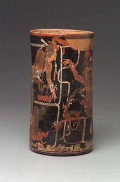 Cylinder vase. Maya, Late Classic Period A.D. 755–780.