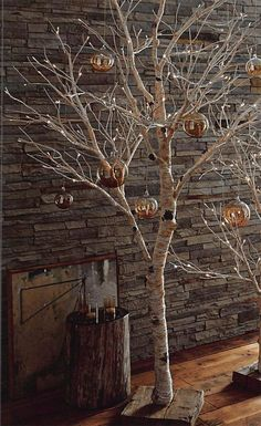 Decorating with Birch Tree Branches . 24 Lovely Decorating with Birch Tree Branches . Decorating with Birch Birch Tree Decor, Tree Branch Decor, White Birch Trees, Tree Branches, Manzanita Branches, Twig Tree, Birch Christmas Tree, Xmas Tree, Christmas Tree Decorations