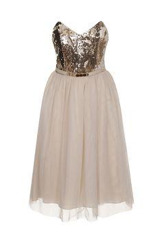 Little Mistress Gold Sequin Dress