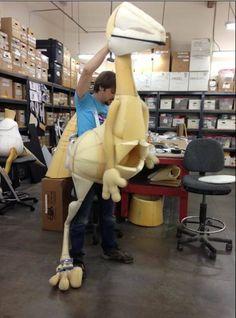 Dinosaur Puppet for the Dinosaur Train Live show…