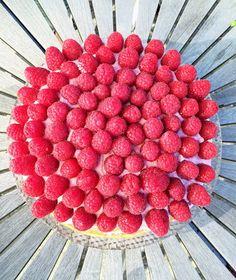 FOOD BY SKADBORG SVARE: Hindbærlagkage med blåbær
