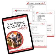 goat checklists (1) Feeding Goats, Raising Goats, Raising Chickens, Goat Fence, Farm Fence, Disaster Kits, Mason Jar Kitchen Decor, Chickens Backyard, Backyard Farming