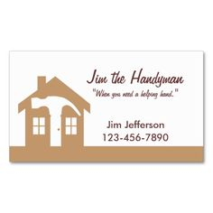 Handyman business card samples business careers pinterest handymanhome repair brown business card reheart Choice Image