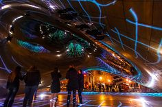 Luminous Field by LuftWerk Installed at Chicago's Cloud Gate