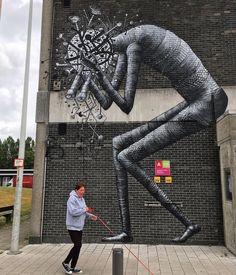 Street Art by Phlegm Artist in Antwerp