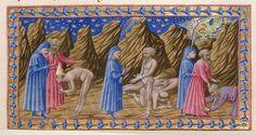 Purgatory - Dante Alighieri TitleDivina Commedia OriginItaly, N. (Tuscany, Siena?) Datebetween 1444 and c. 1450 LanguageItalian    http://www.bl.uk/catalogues/illuminatedmanuscripts/record.asp?MSID=6468&CollID=58&NStart=36