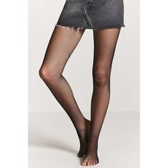 Forever21 Micro-Fishnet Tights ($6.90) via Polyvore featuring intimates, hosiery, tights, fishnet hosiery, forever 21 tights, fishnet pantyhose, fishnet stockings and forever 21