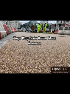 Despite the weather, we've managed to lay a couple more areas on the Kingsway. Resin Driveway, Stone Driveway, Stone Path, Resin Gravel, Swansea, South Wales, Weather, Couple, Courtyards