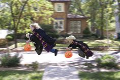 What is this? An addition to the family? Hold on tight, Hermione. Accio candy! | Creative Dad Takes Totally Adorable Halloween Photos Of His Kids