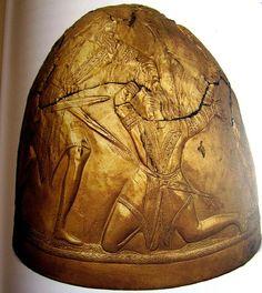 Scythian Gold (Gold helmet of Perederijewa Mogila, 4thc BC, Ukrainian Museum of Historical Treasures, Kiev )