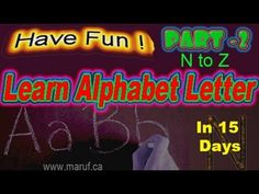 ▶ PART 2 - LEARN Alphabet ABCD Read + Write Individually - Video with Voice - YouTube