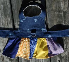 Denim Overall Dress for xxs to medium size dog Custom made in America by AmericanPooch on Etsy