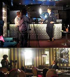 The Arbuturian filming at Flemings!