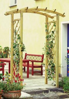 new trellis arch trellis arbor tall for flowers wooden by zest