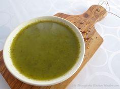 Kale Soup with Ginger & Lemon    © Life Through the Kitchen Window.com Kale Soup, Plant Based Eating, Flakes, Chili, Lemon, Veggies, Window, Tableware, Pretty