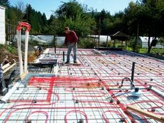 RADIANT FLOOR HYDRONIC (water) HEATING SYSTEM: 11 Steps (with Pictures) Hydronic Radiant Floor Heating, Hydronic Heating, Water Heating Systems, Infrared Thermometer, Radiant Heat, Heat Pump, Story House, Water Supply, Concrete Floors