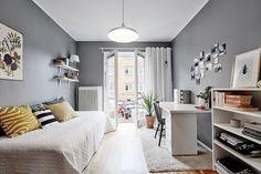 Dormitorio en tonos grises / Cómo pasar de una habitación infantil a una juvenil #hogarhabitissimo #nordic