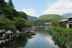 a river ,Kyoto