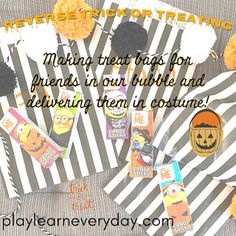 Halloween 2020 - Reverse Trick or Treating - Play and Learn Every Day Halloween Themed Food, Halloween This Year, Halloween Games, Halloween 2020, Spooky Halloween, Halloween Crafts, Halloween Decorations, Halloween Gift Baskets, Mini Pumpkins
