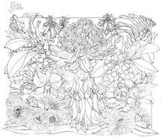 Australian Floral Emblems 2014 – a new linocut Applique Patterns, Embroidery Applique, Quilt Patterns, Australian Native Flowers, Australian Artists, Linocut Artists, Art Studios, Adult Coloring, Tapestry