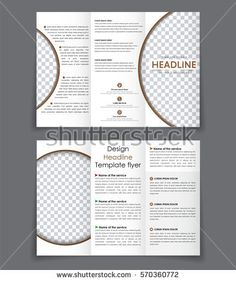 Template Of White Blank Brochure On Gray Background Mockup Flyer