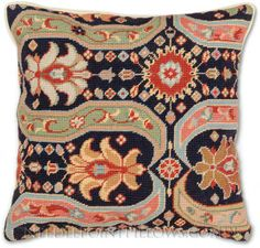 Persian Design Needlepoint Pillow - Tapestry Pillows at NeedlepointPillows.com