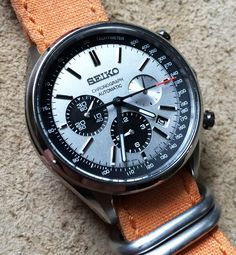 Seiko chrono pieces) – Men's style, accessories, mens fashion trends 2020 Amazing Watches, Beautiful Watches, Cool Watches, Hand Watch, Bracelet Cuir, Seiko Watches, Seiko Chrono, Luxury Watches For Men, Automatic Watch