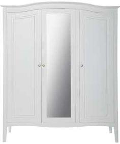 Heart of House Avignon 3 Door Mirrored Wardrobe - White. > #ArgosRoomInspiration