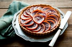 blood orange tart - photography and styling by stephanie shih
