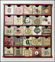 Countdown to Christmas - Scrapbook.com  A beautiful and elegant way to count down to Christmas